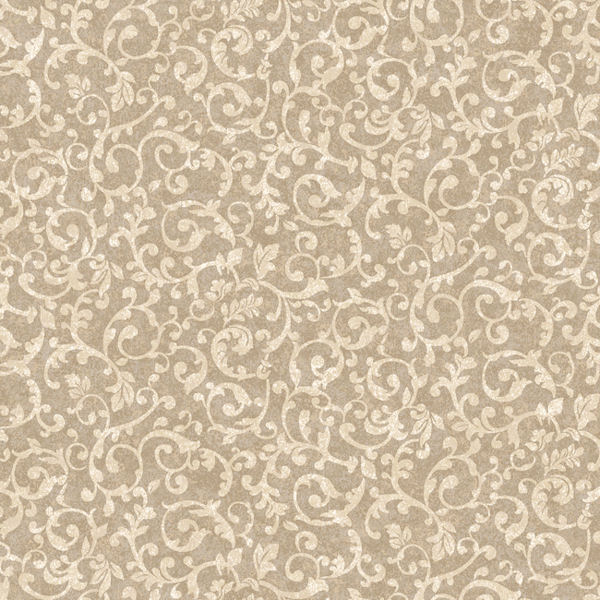 Brown and Gold Small Scroll Wallpaper   Wall Sticker Outlet 600x600