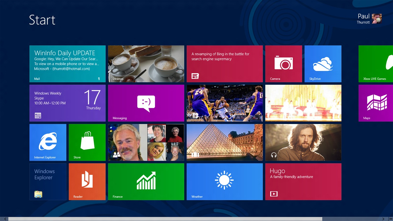 Windows 8 Release Preview 1366x768