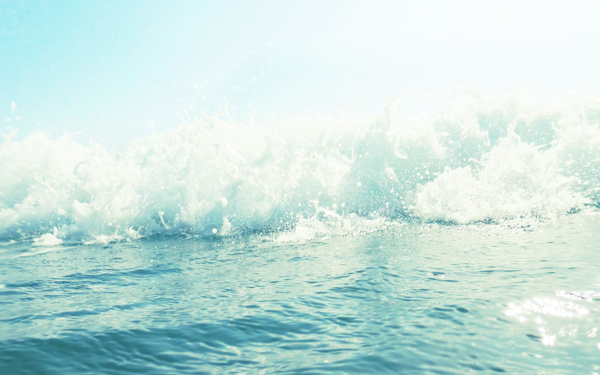Ocean Wave Water drops bokeh wallpaper 1920x1200 1920x1200