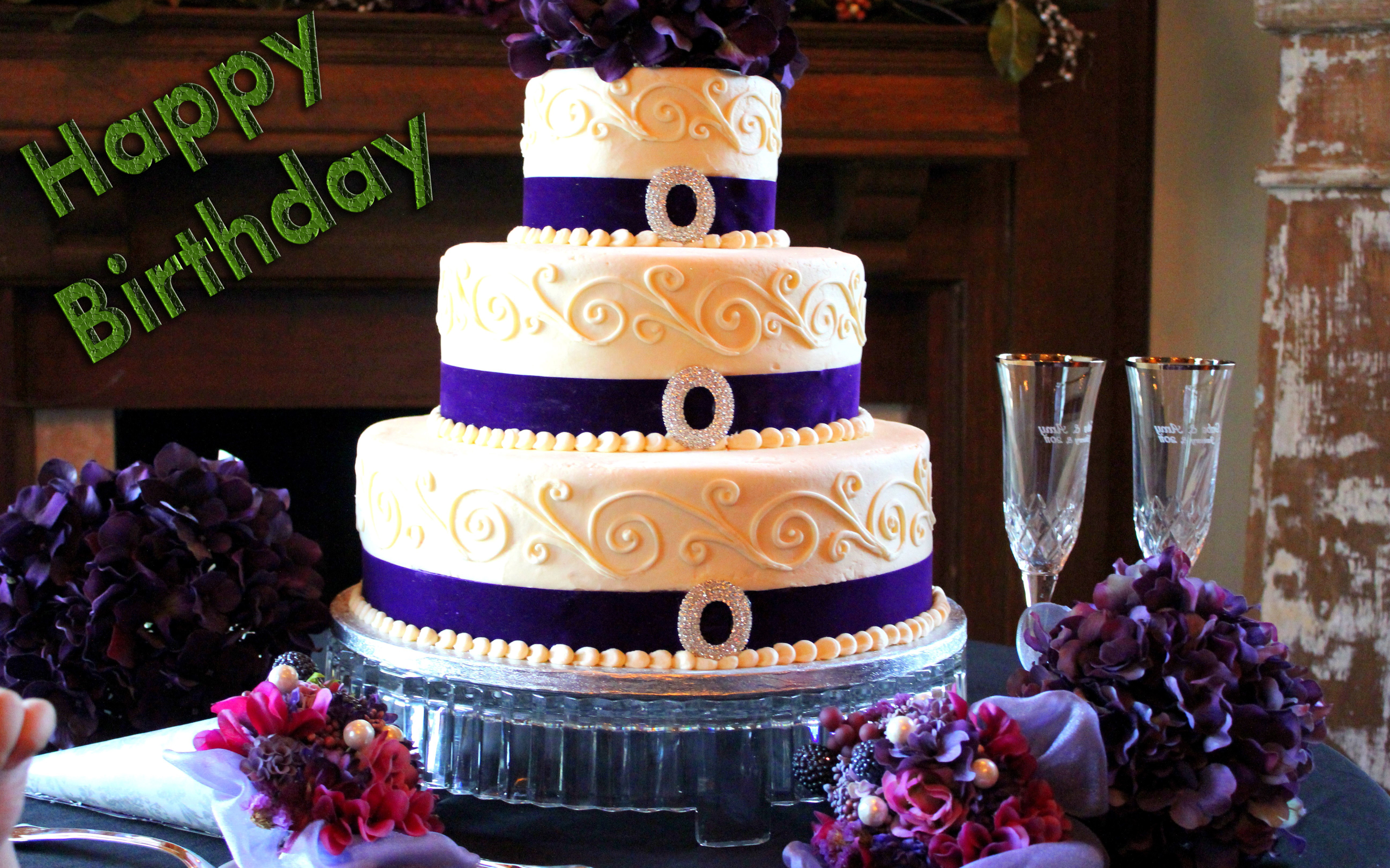 Big Cake Happy Birthday HD Wallpaper Wish