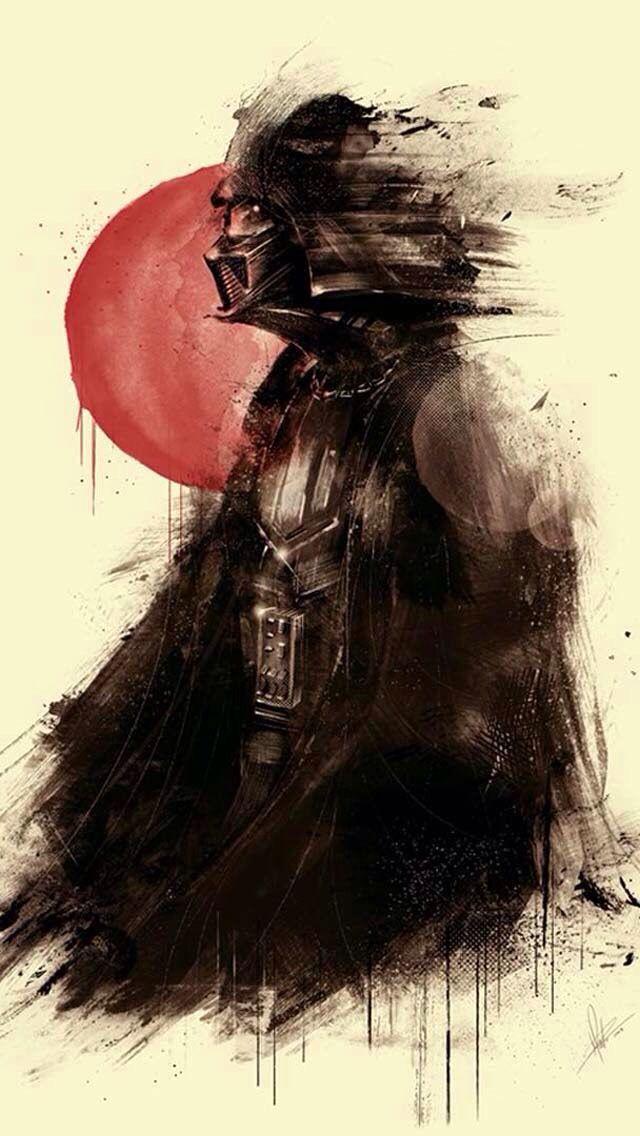 Lord Vader Darthvader Stars Illustration Star Wars Starwars 640x1136