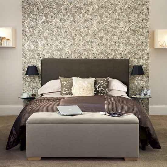 Chic grey bedroom Modern designs Wallpaper housetohomecouk 550x550