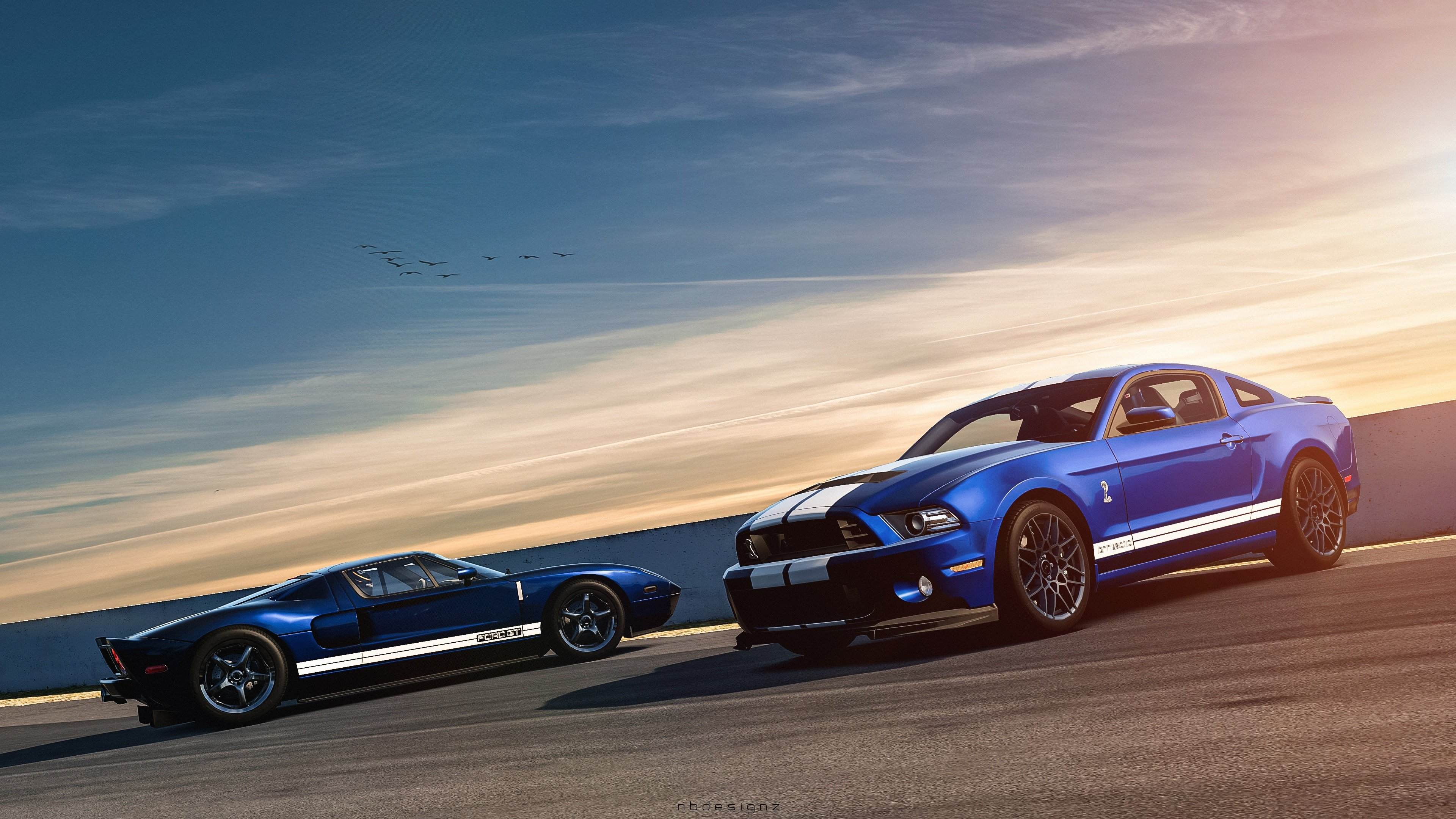 Ford Mustang Shelby GT500 Ford GT Wallpaper HD Car 3840x2160