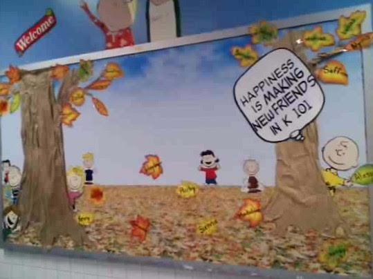 Peanuts Themed Bulletin Board for Back to School 539x404