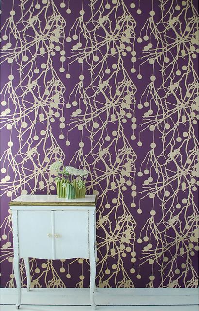 Living   Treebomb Wallpaper Purple   Modern   Wallpaper   by HORNE 410x640