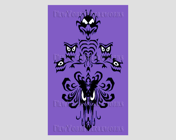 Disney Haunted Mansion Wallpaper Stencil