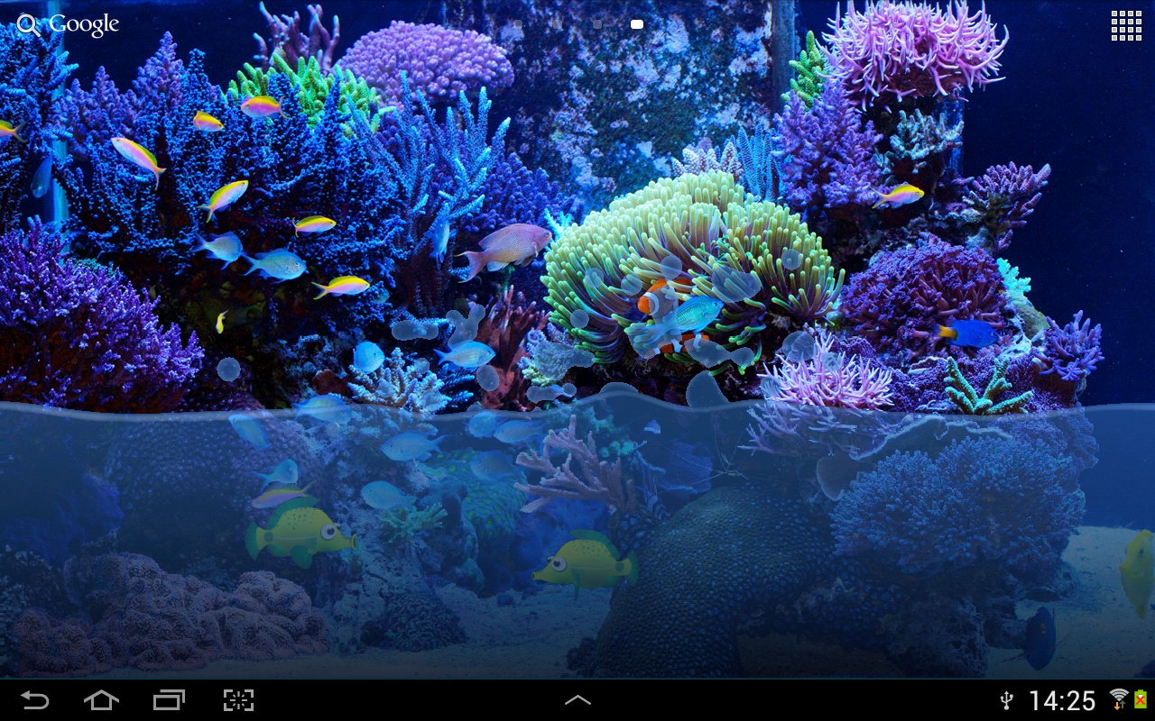 fish tank live wallpaper this wallpaper simulates water in a fish tank 1280x800