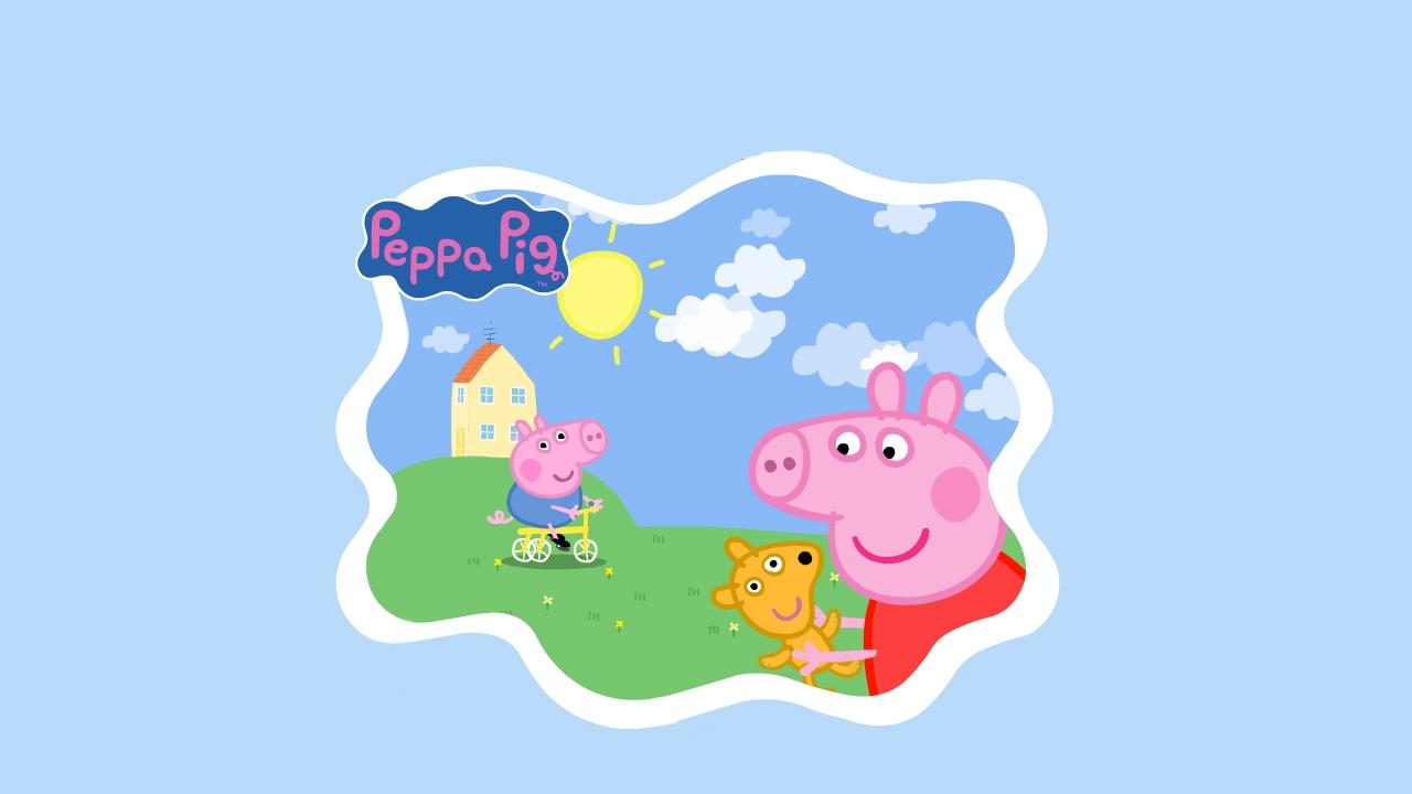 37 peppa pig wallpaper desktop on wallpapersafari - Pig wallpaper cartoon pig ...