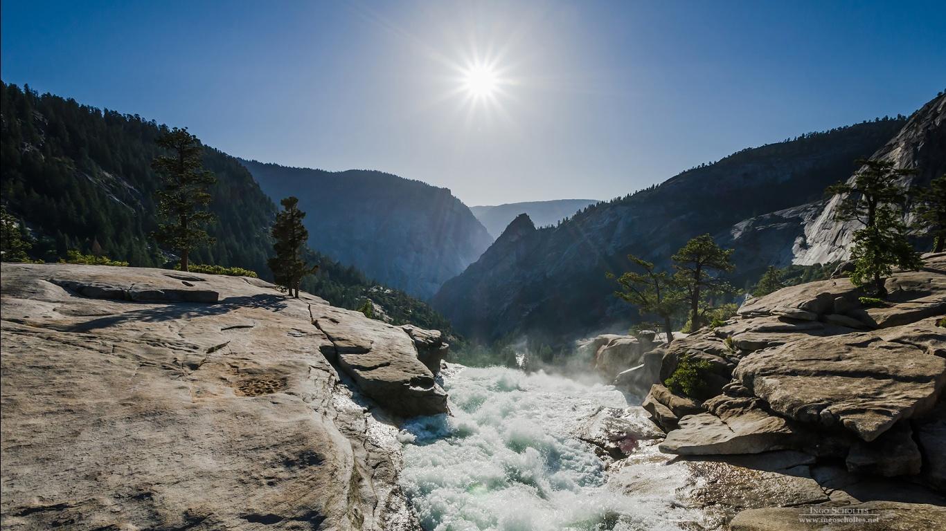 Nevada Fall Yosemite National Park Wallpapers HD Wallpapers 1366x768