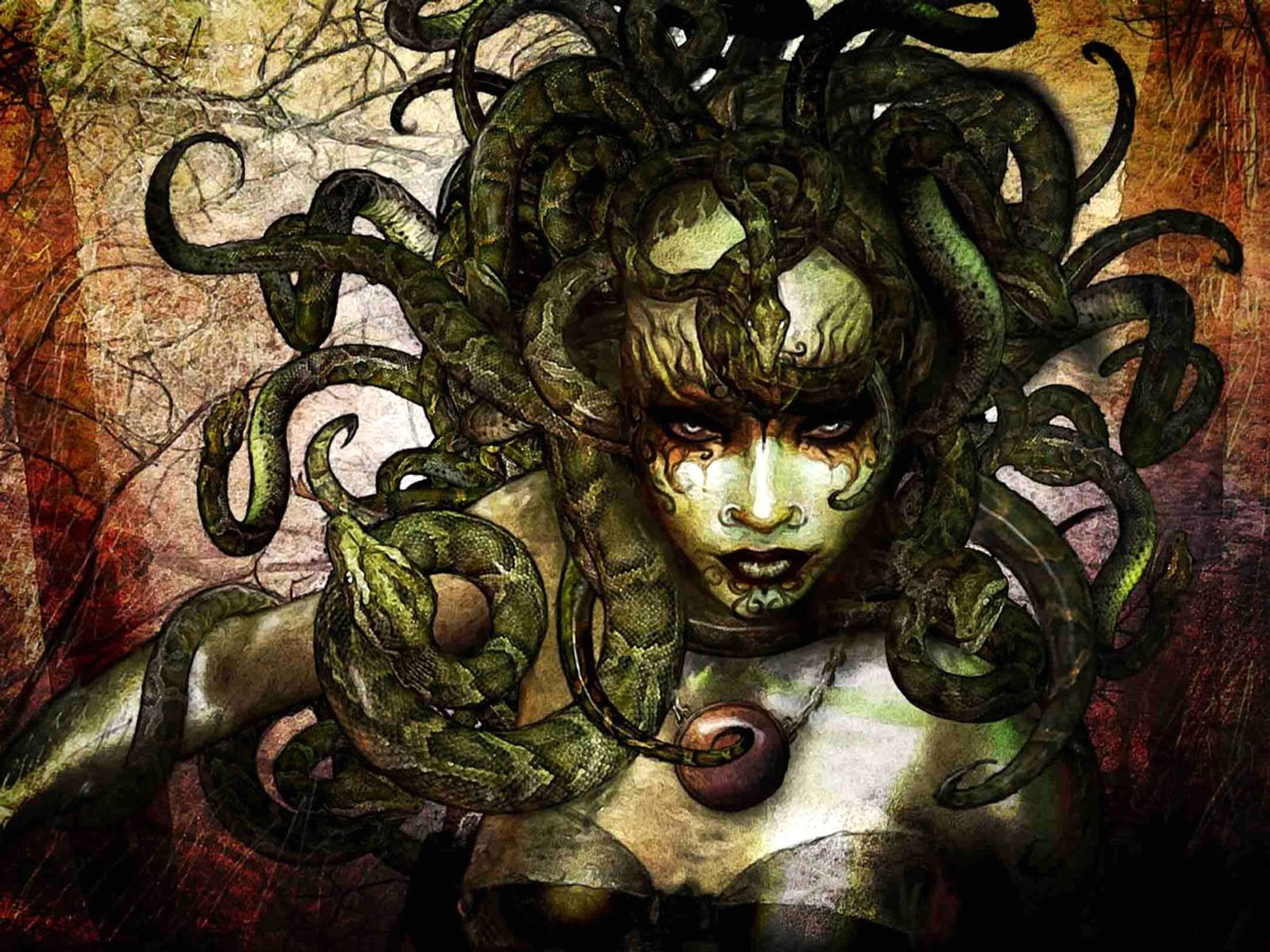 Medusa Illustration   Mythical Creatures Wallpaper 1600x1200