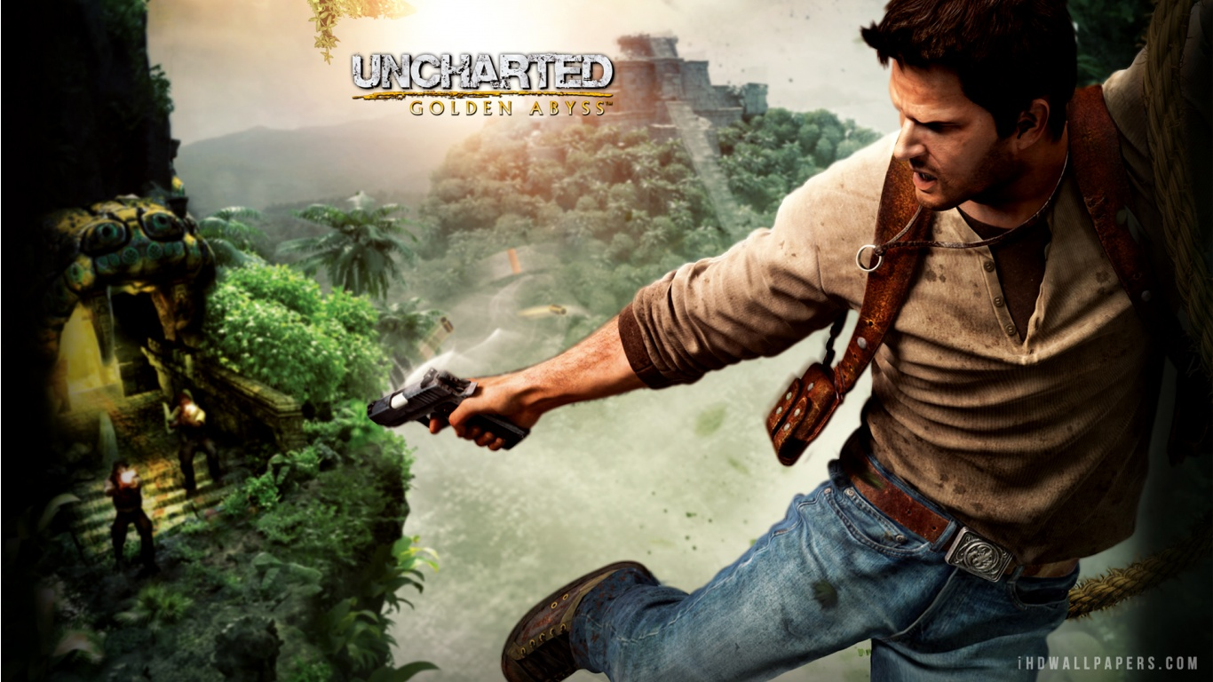 Uncharted Golden Abyss Nathan Drake HD Wallpaper   iHD Wallpapers 1366x768