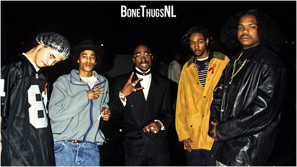 2pac Bone Thugs wallpaper style by KrayFace on deviantART 1024x576