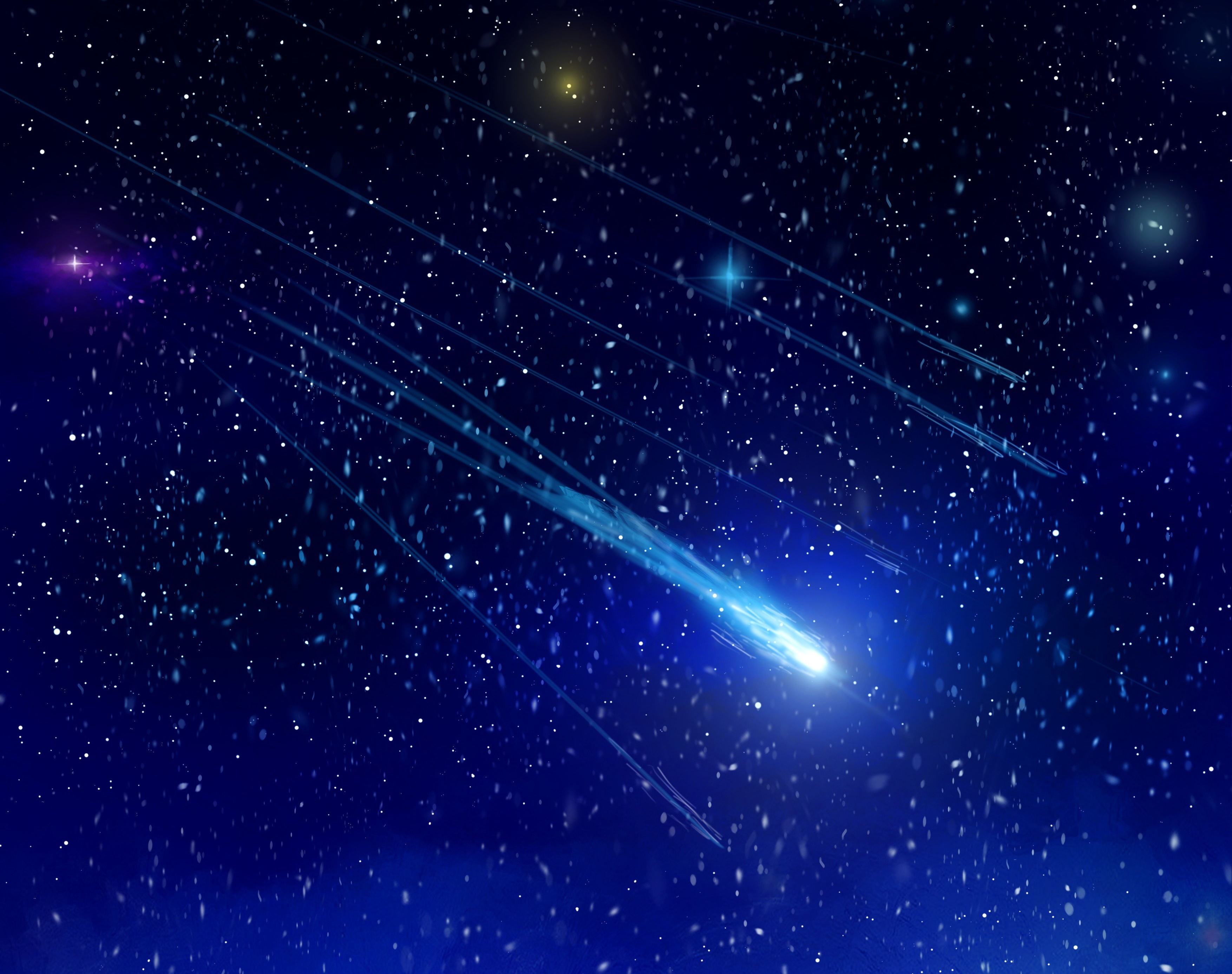 Wallpaper space stars shooting star wallpapers space   download 3508x2775