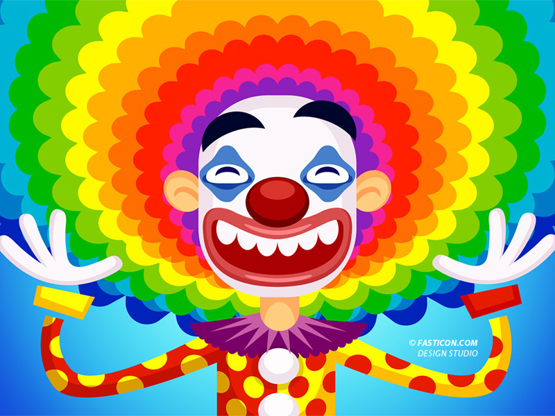 Clown Wallpaper for Desktop iPhone and iPad by FastIcon 800x600