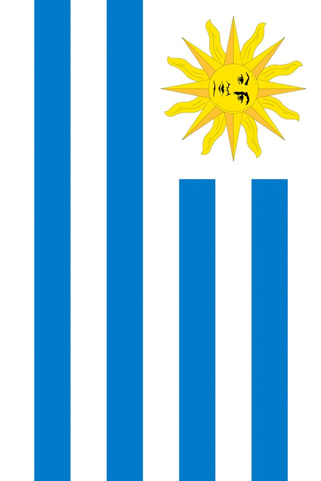 Uruguay Flag iPhone Wallpaper HD 640x960