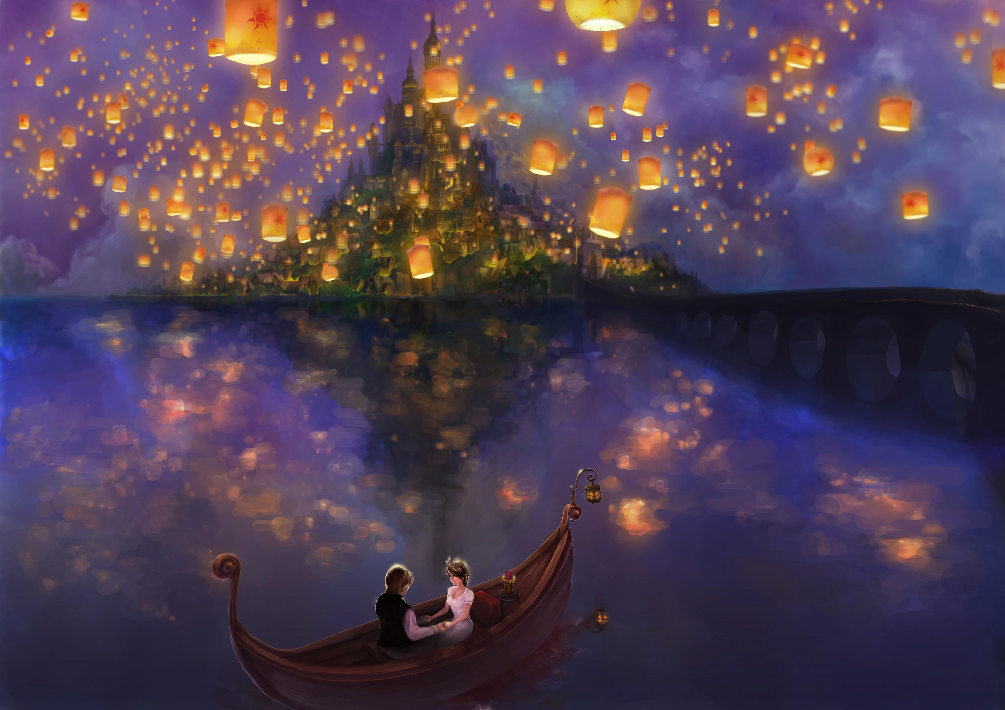 Принцесса под небесными фонариками  № 2222691  скачать