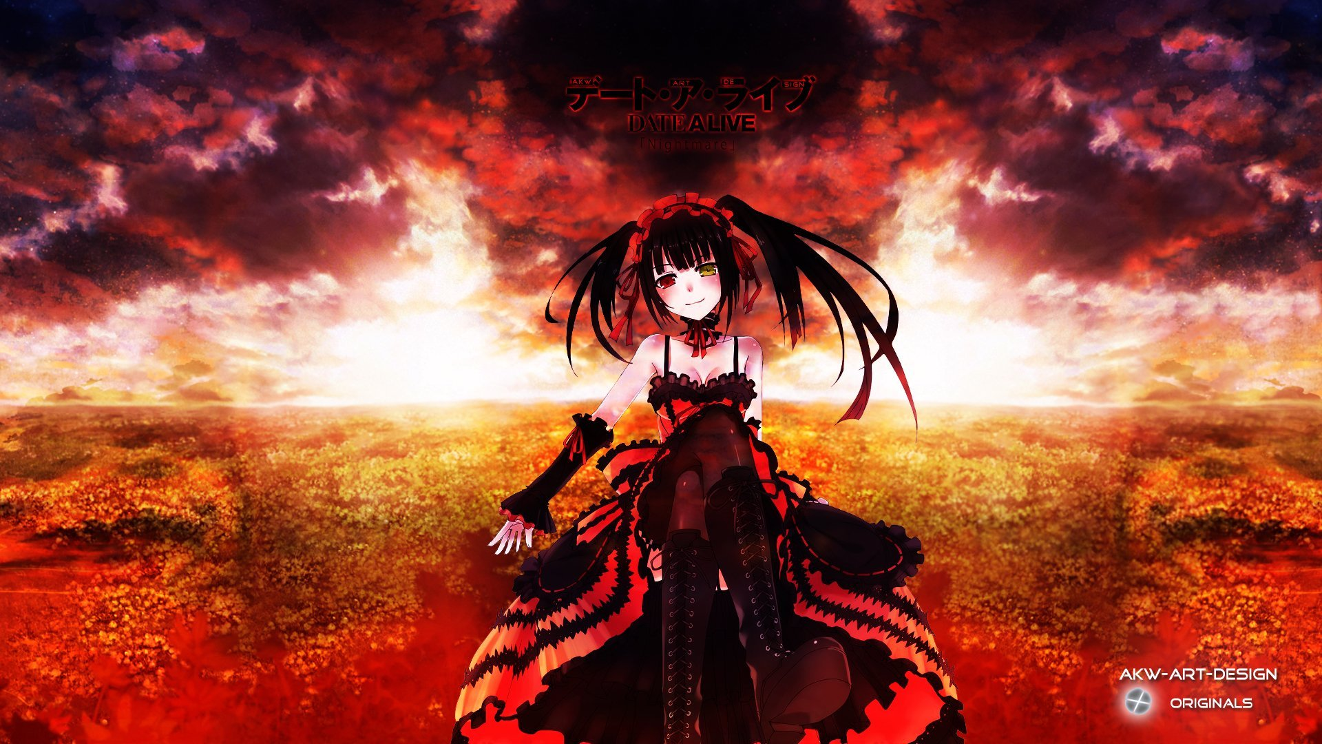 Date a live Tokisaki Kurumi wallpaper background 1920x1080