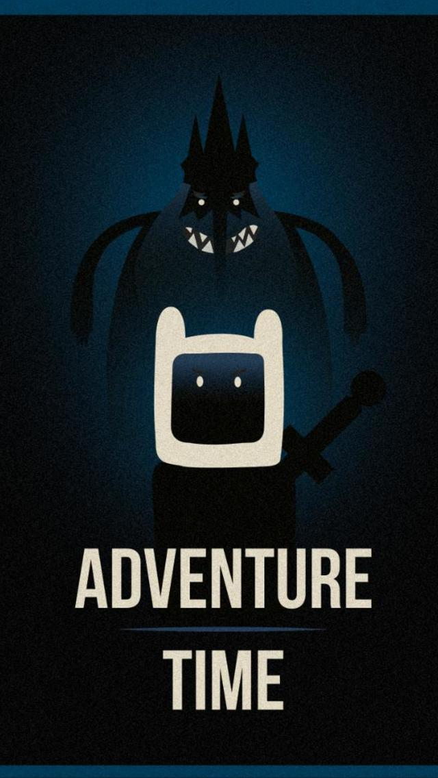 Adventure Time inspired by Olly Moss Wallpaper for iPhone 5 640x1136