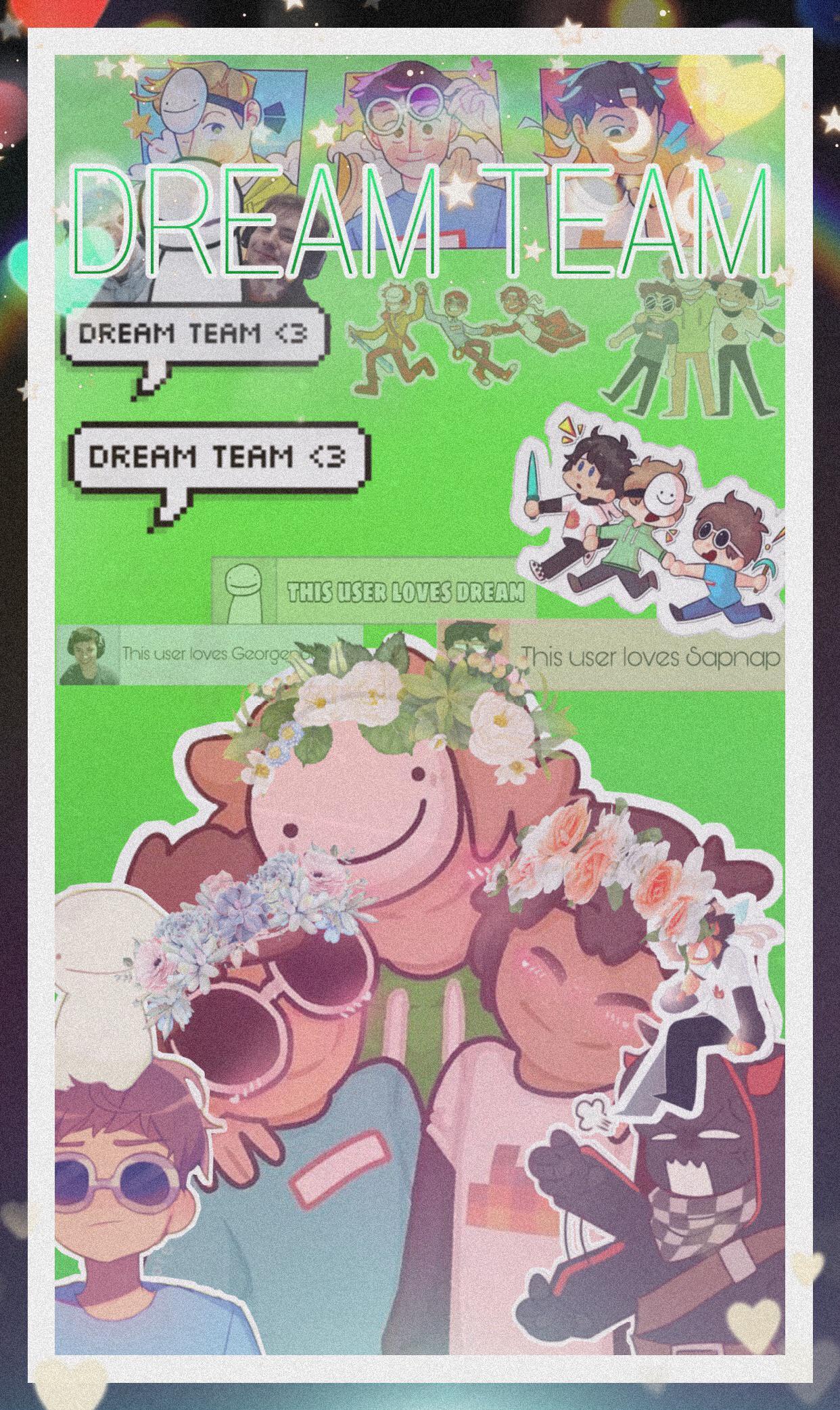 I made a wallpaper of the dream team yeah I kinda suck 1242x2082