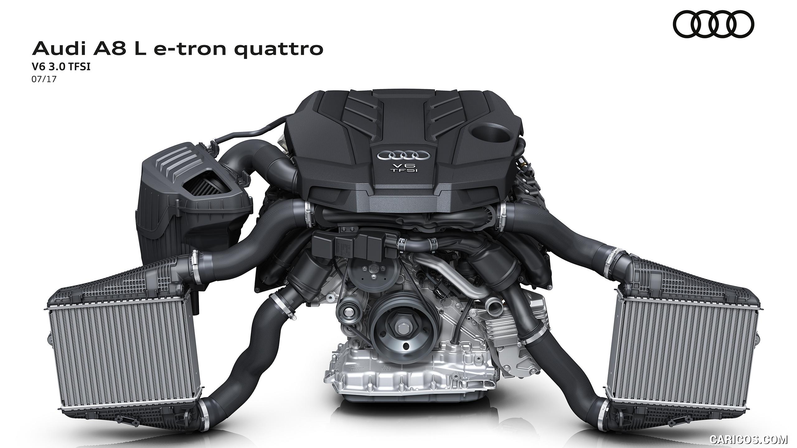 2018 Audi A8 L e tron   V6 30 TFSI Engine HD Wallpaper 54 2560x1440