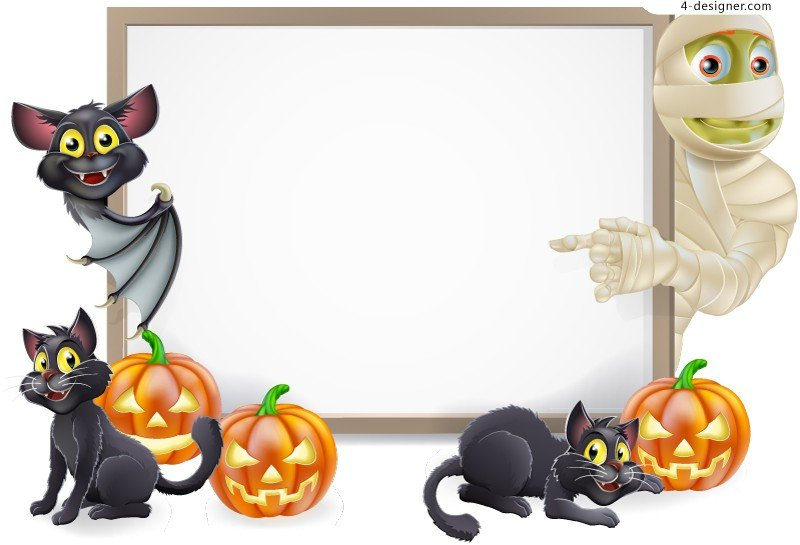 Designer Creative Halloween text background vector material 800x545