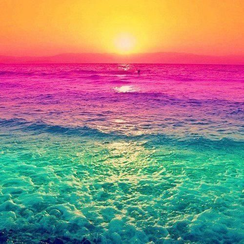 sunsetsHa ha Color Pinterest Rainbows Sunsets and Ocean 500x500