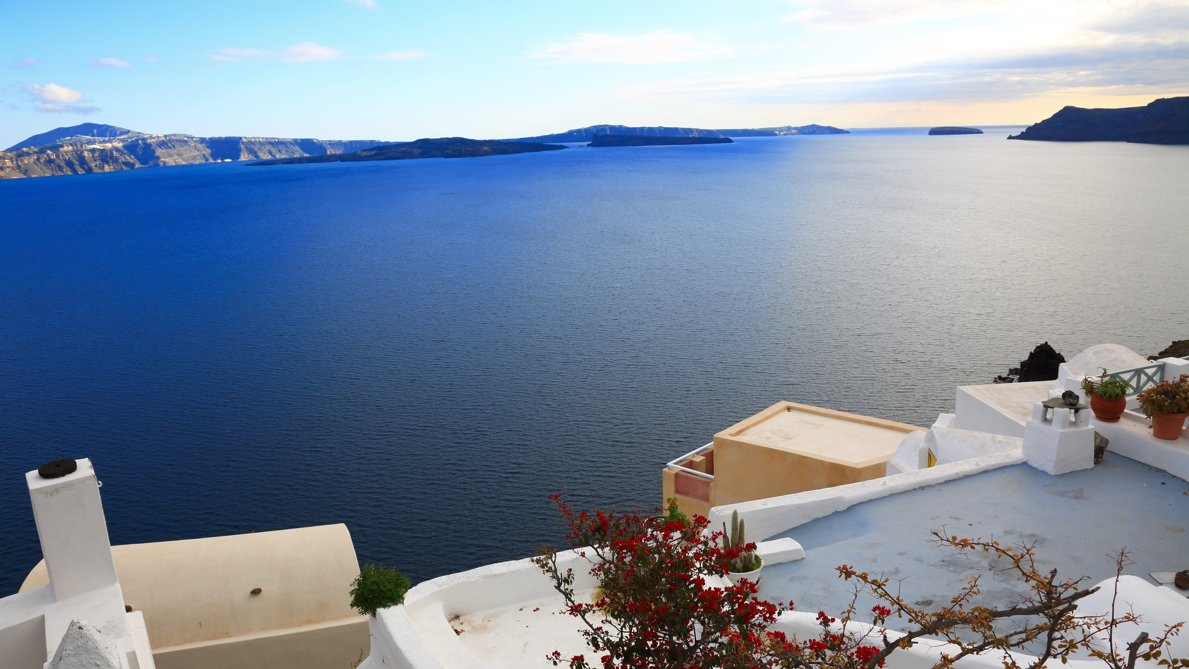 62 Santorini HD Wallpapers Background Images 3840x2160