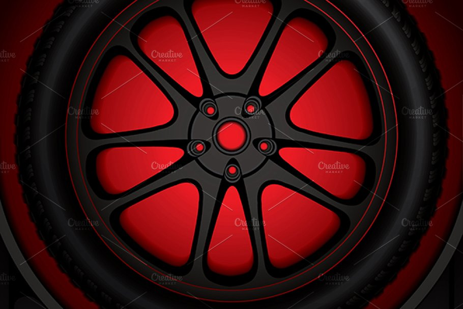 Tire track background Illustrations Creative Market 910x607