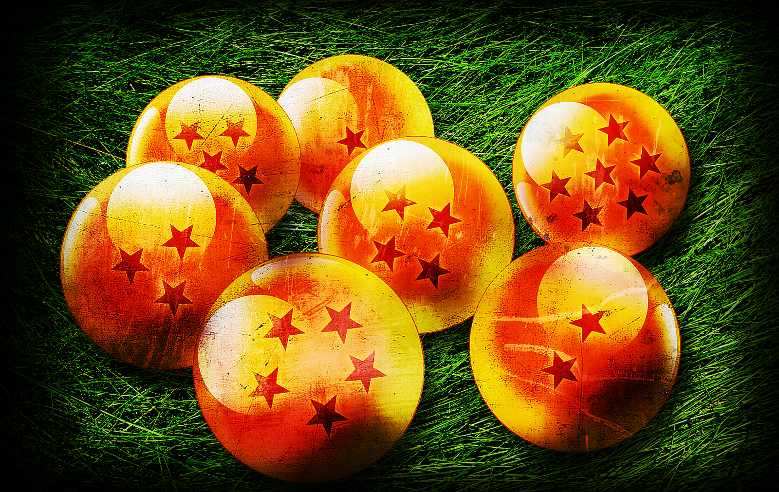 The Seven Dragon Balls   Dragon Ball wallpaper 1600x1011