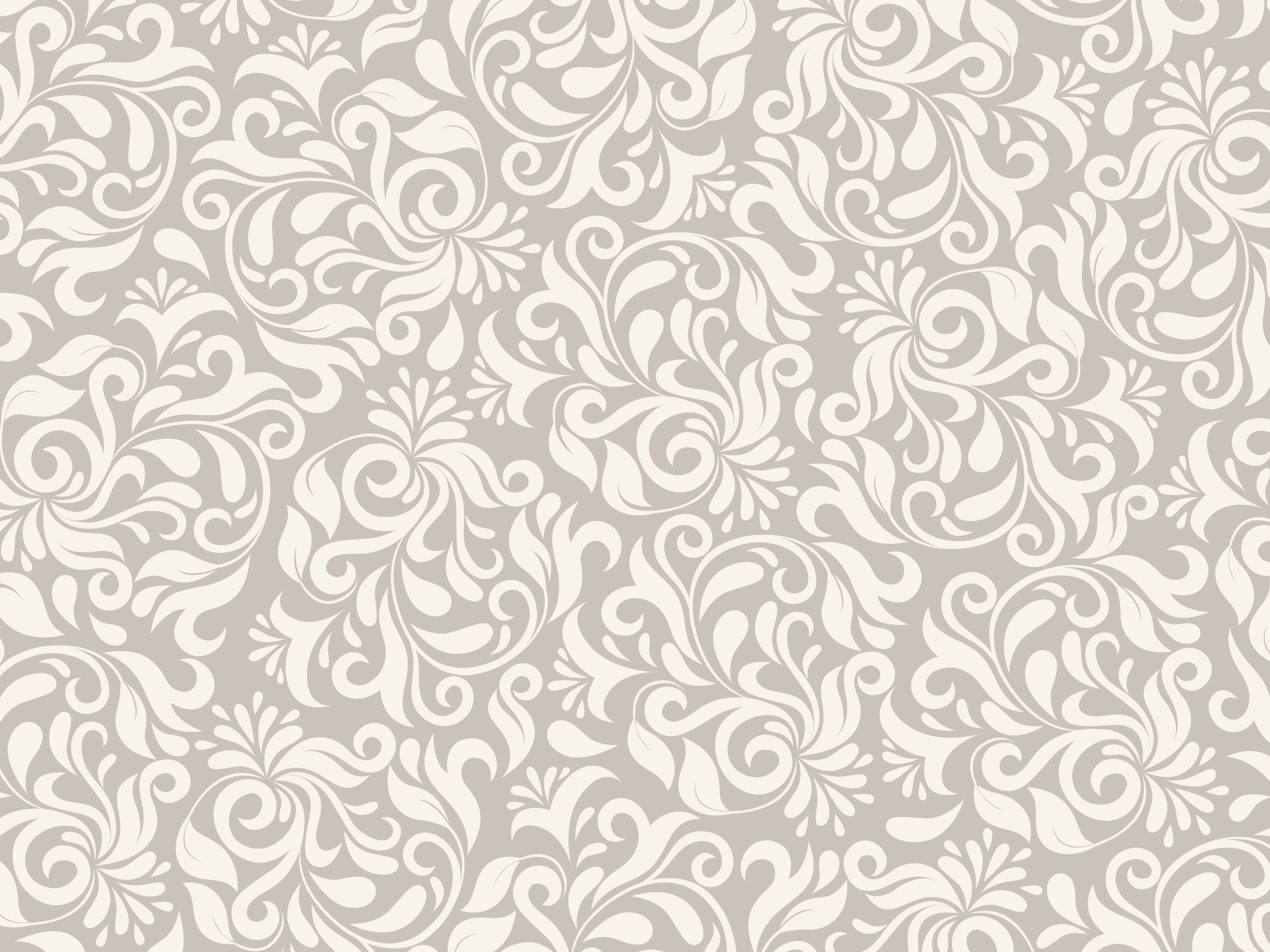 Light brown floral pattern PSDGraphics 5000x3750