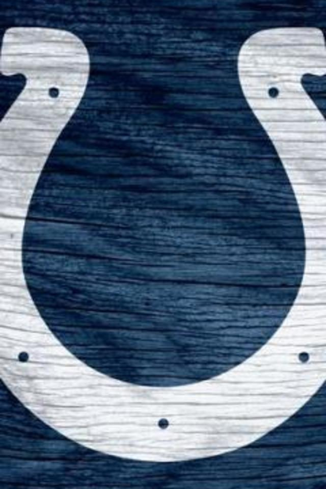 Indianapolis Colts Blue Solid Weathered Wood Wallpaper for iPhone 4 640x960
