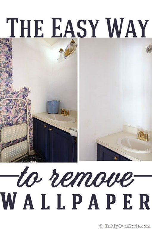 How to Strip Wallpaper the Easy Way   In My Own Style 510x768