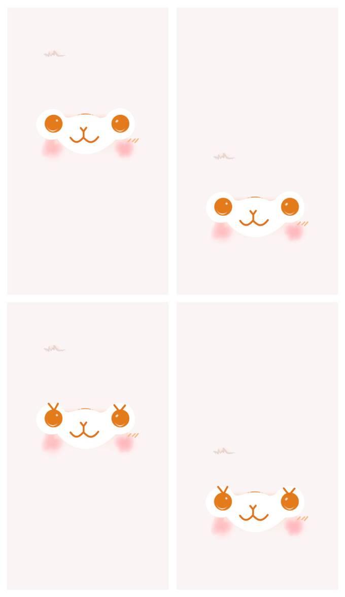 Alpacasso Facial Mobile Wallpaper MACARON WHITE by JellysFancy on 680x1176