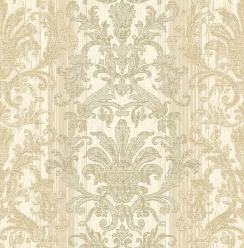Crown Wallpaper Fabrics Toronto Beige Damask Wallpaper Pintere 491x500