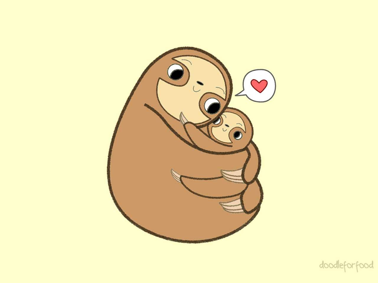 It's just an image of Old Fashioned Sloth Drawing Cute