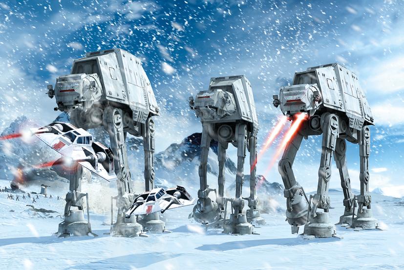of Film TV Star Wars Star Wars Hoth Battle Maxi Poster 827x552