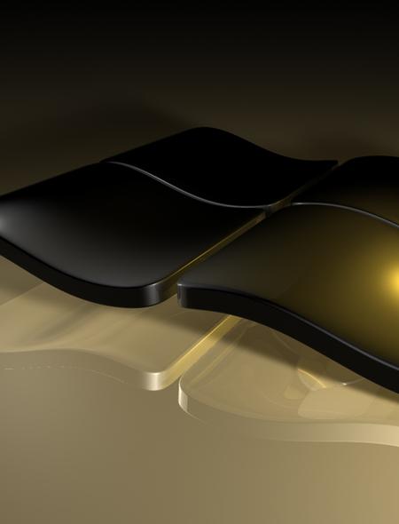black windows logo Wallpaper for Sony Xperia Tablet 450x590