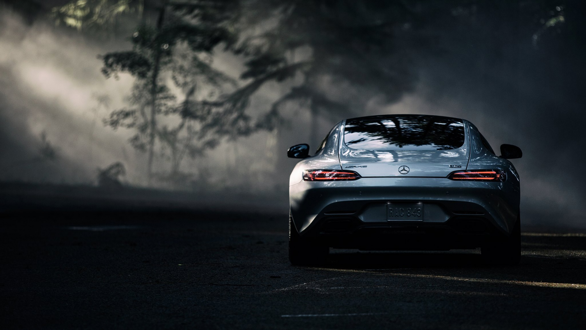 Mercedes benz Amg Gt s 2016 Rear view Full HD 1080p HD Background 1920x1080