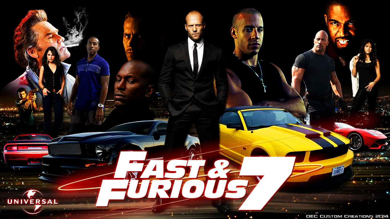 Fast And Furious 7 Universal Poster HD Wallpaper   Stylish HD 1366x768