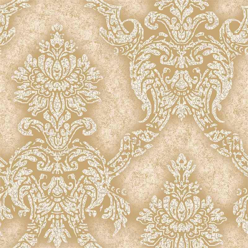 Gold Tan Metallic Augusteen PSN105926 Damask Wallpaper   Modern 800x800