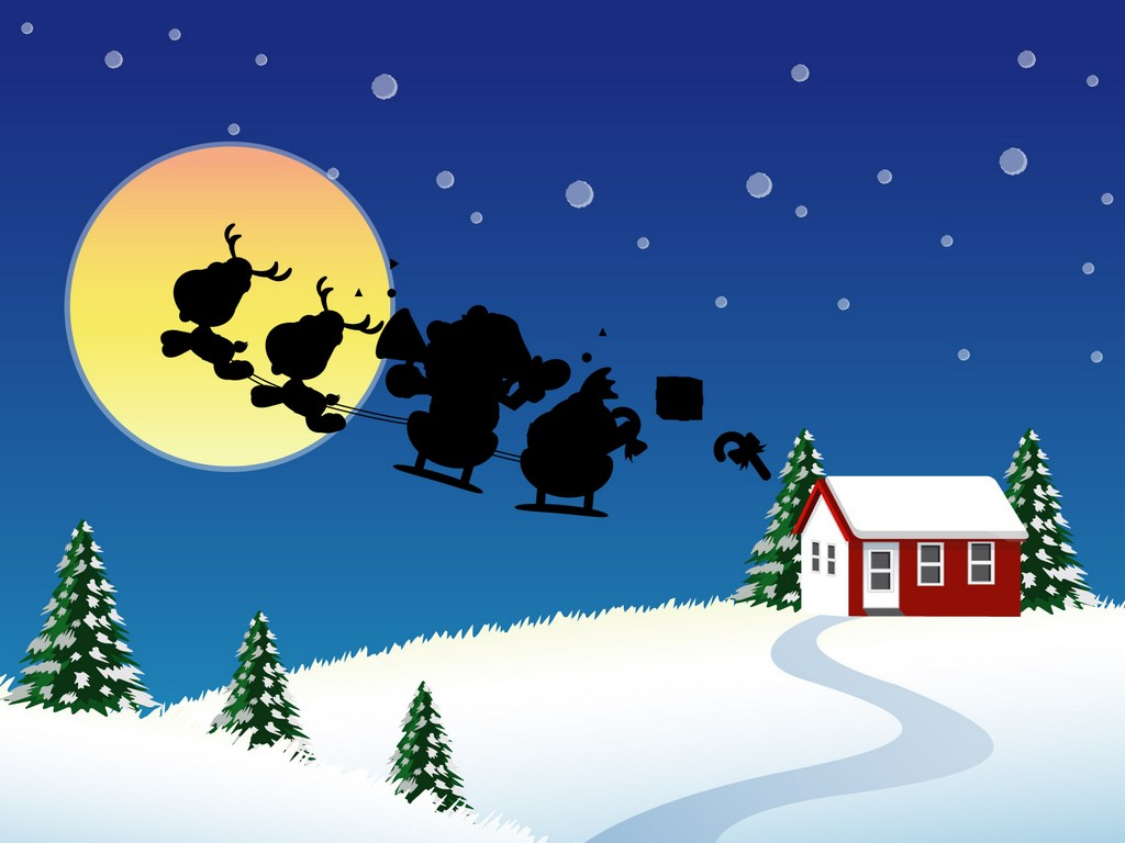 Fun Plannet funny christmas wallpaper 1024x768