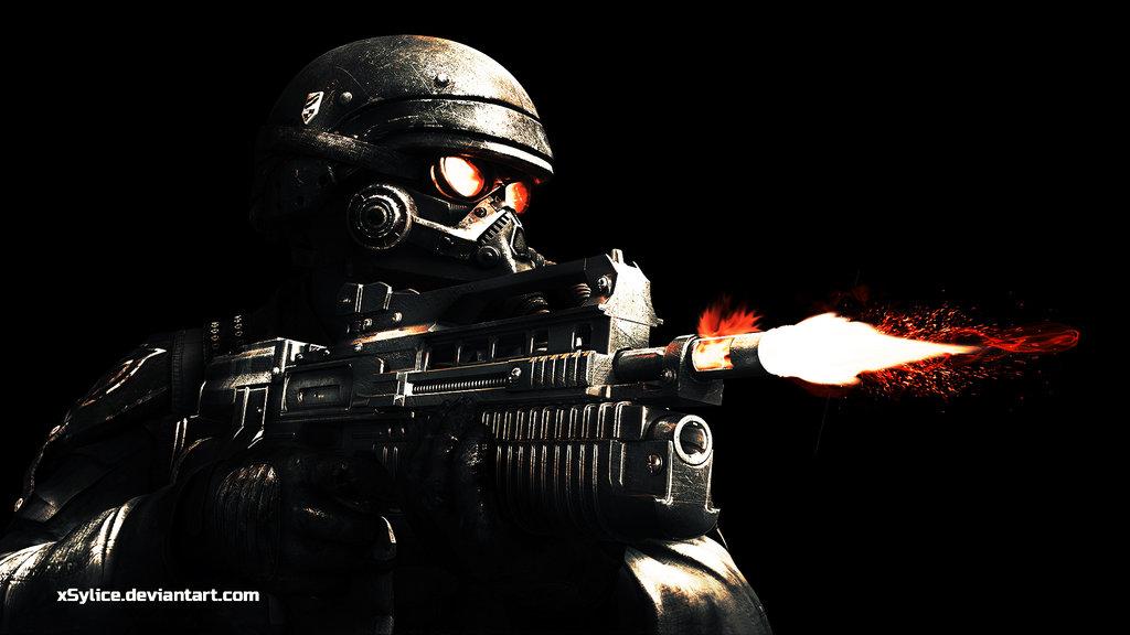 Killzone Shadow Fall 1080p Wallpaper Helghast Wallpaper - W...