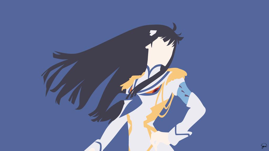 Kiryuin Satsuki Kill la Kill Minimalism by greenmapple17 on 1024x576