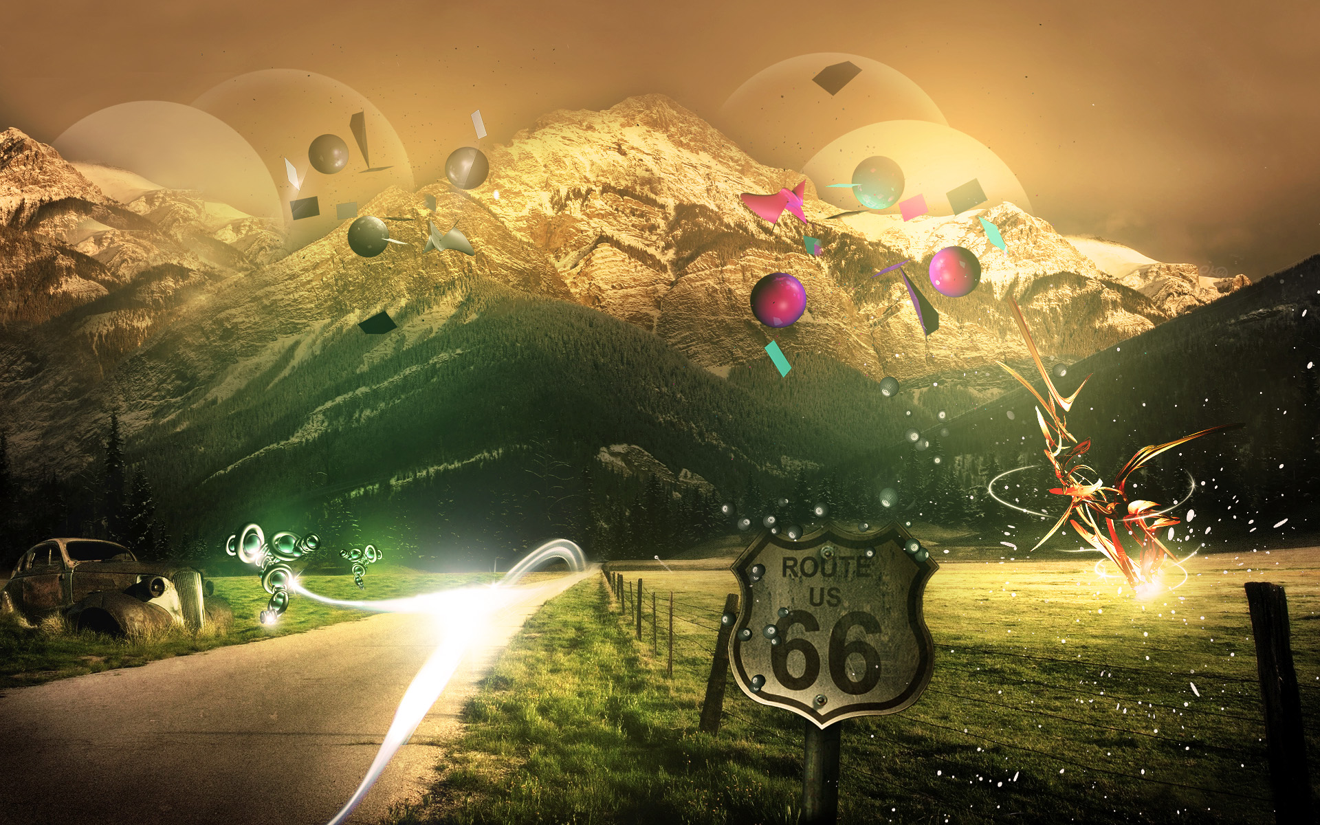 Route 66 Open Road Wallpaper Image Gallery