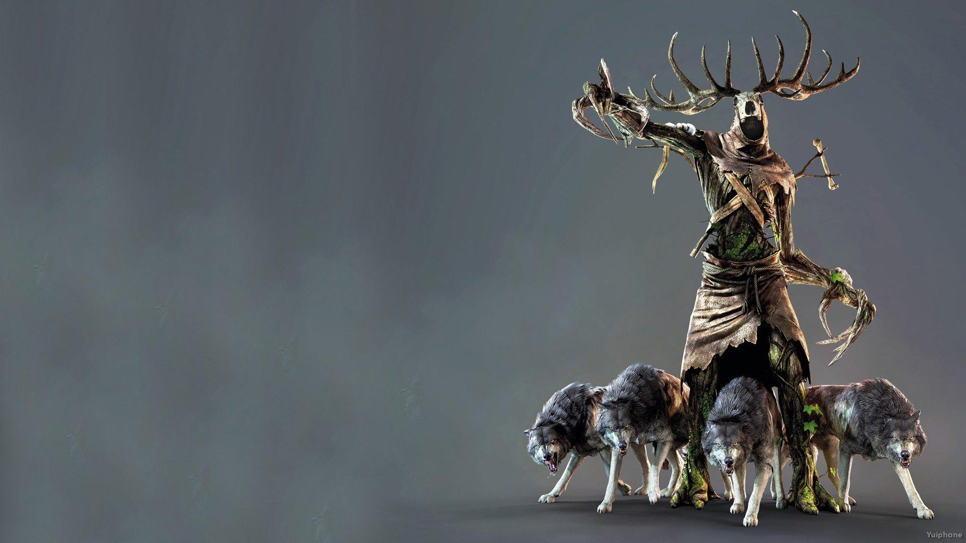 WITCHER 3 fantasy warrior monster dark creature wolf wolves wallpaper 1920x1080