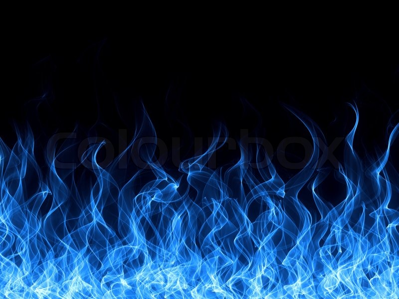 Blue Fire Flames White Background 800x600