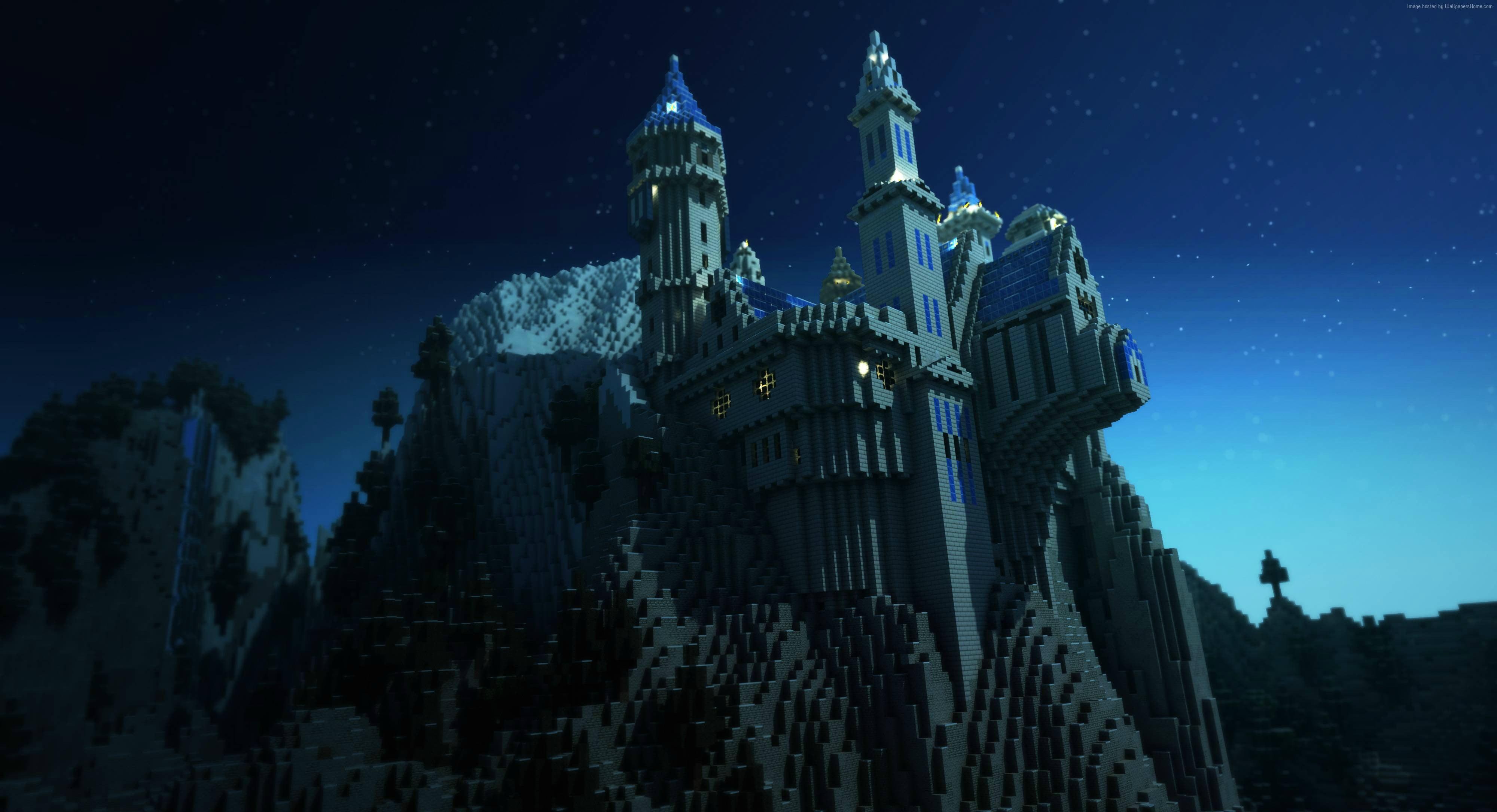 Minecraft castle photo HD wallpaper Wallpaper Flare 4000x2170