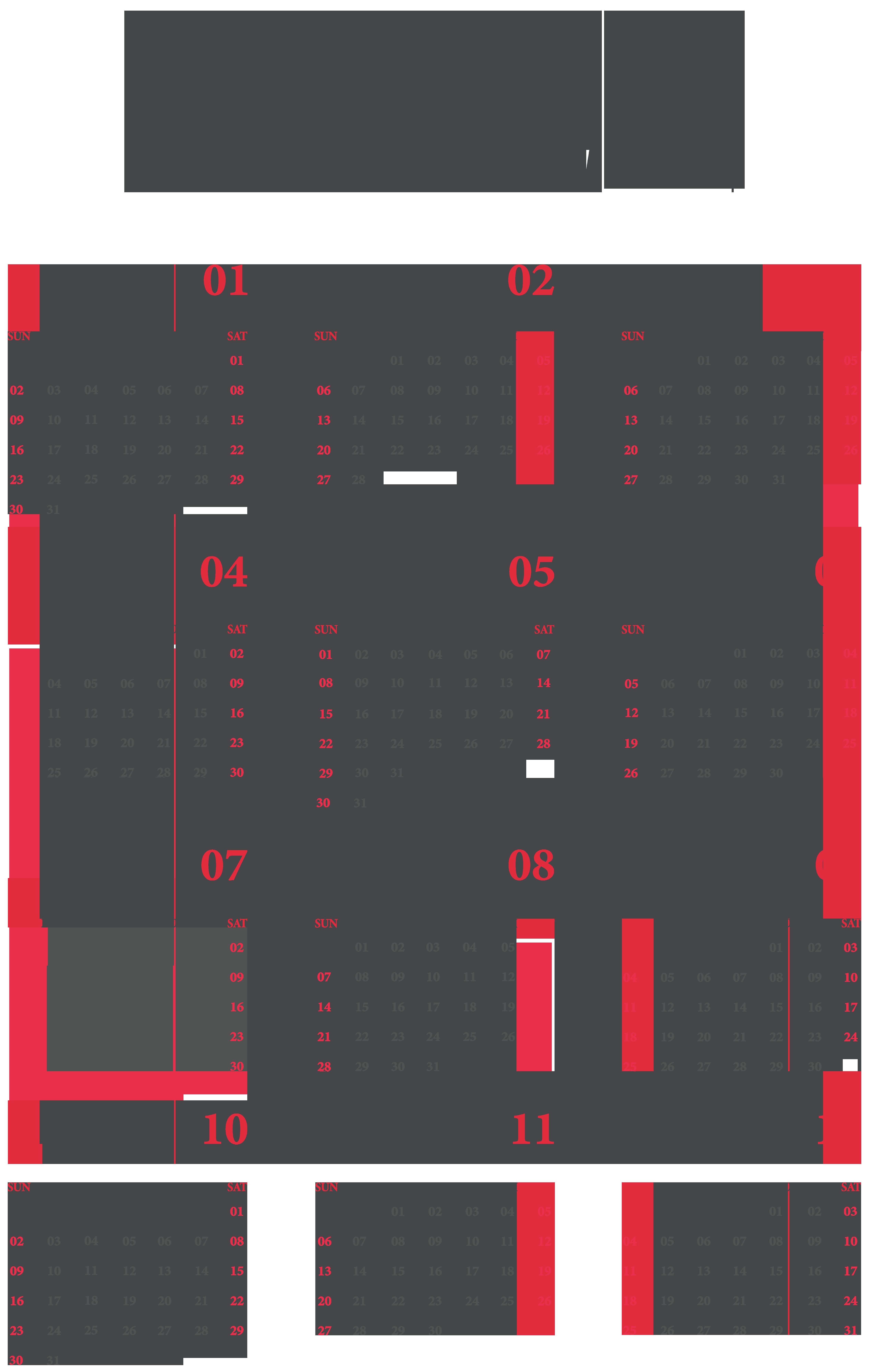 2022 Calendar US Transparent Clipart Gallery Yopriceville 5068x8000