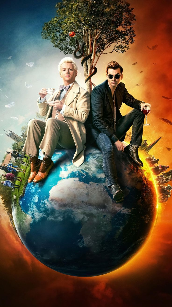 Good Omens Phone Wallpaper in 2020 Movie wallpapers Good omens 736x1309