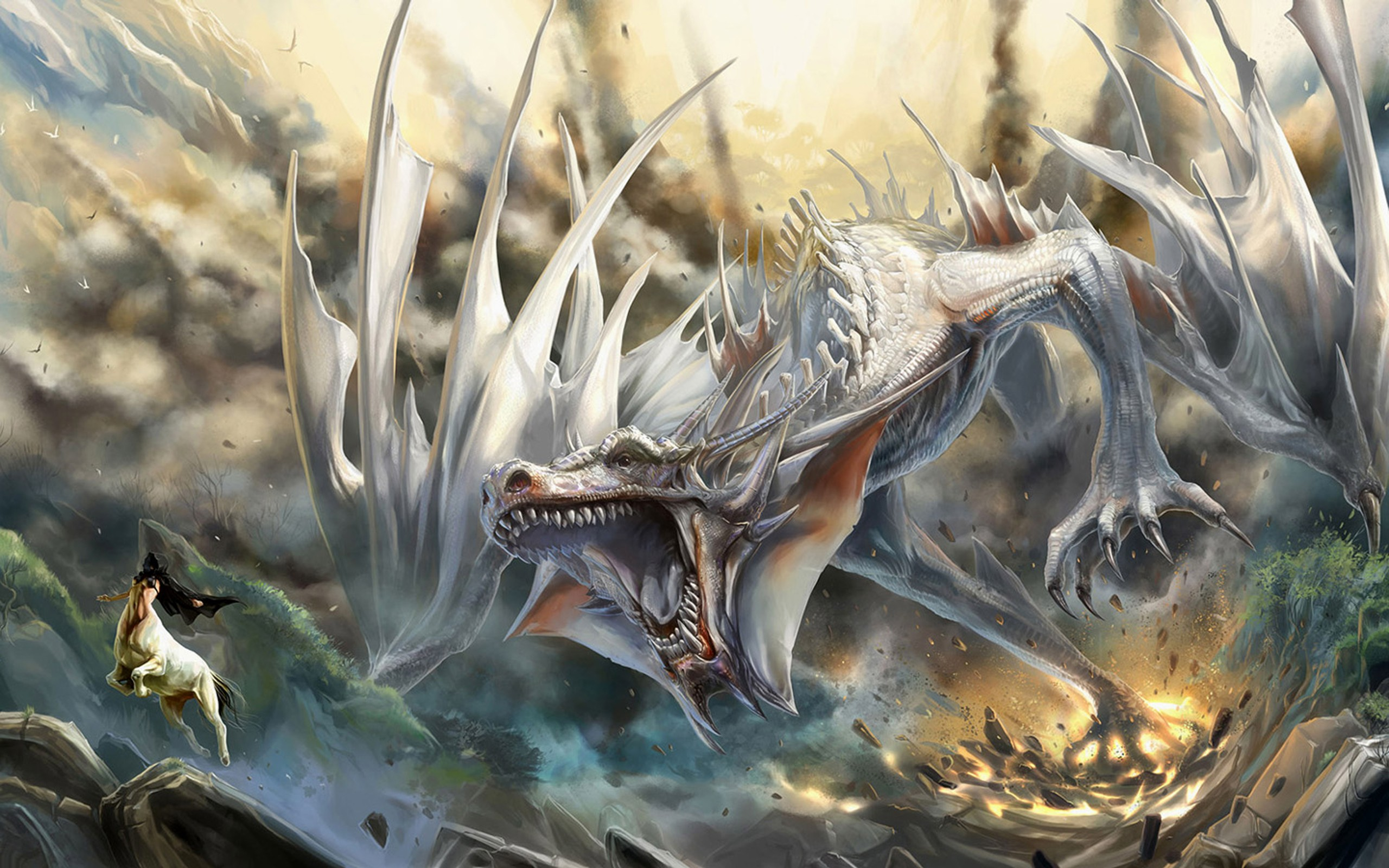 3d Dragon Wallpapers Dragons 3d wallpaper 2560x1600